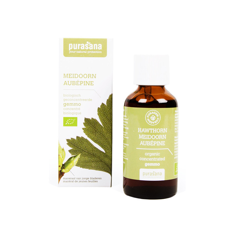Aubépine Bio 50 ml Purasana Flacon-gouttes 50ml