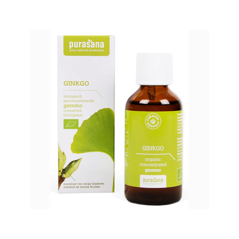 Ginkgo Bio 50 ml Purasana Flacon-gouttes 50ml
