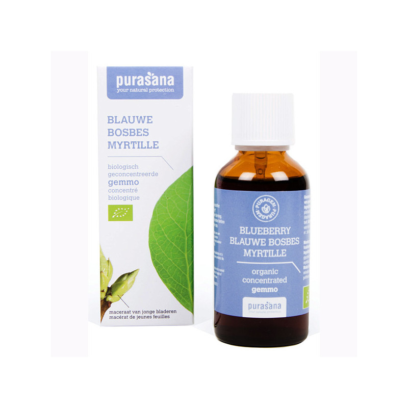 Myrtille Bio 50 ml Purasana Flacon-gouttes 50ml