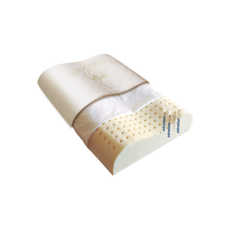 Oreiller cervical Latex naturel Biorelax 60 X 40