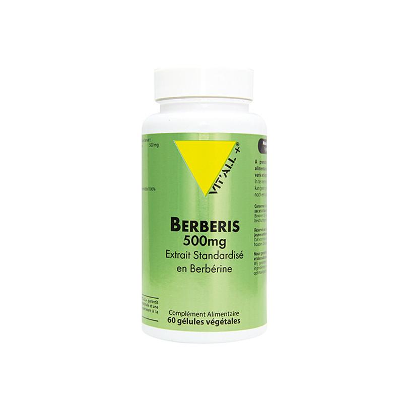Berberis 500mg 60 gélules Vitall+ 60 gélules végétales
