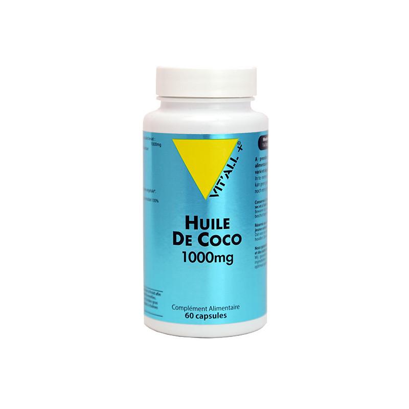 Huile de Coco 1000mg 60 capsules 60 capsules végétales