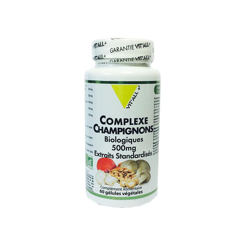 Complexe Champignons bio Vit'all+ 60 gélules