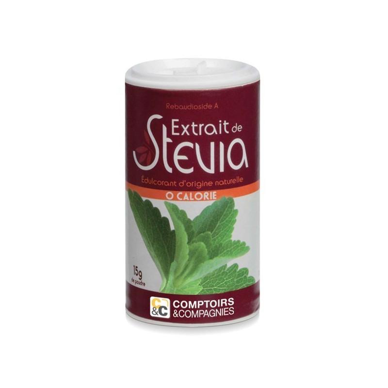 Stevia blanche pot 15gr Stevia blanche pot 15gr
