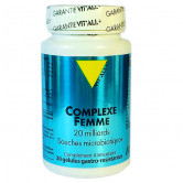 Complexe femme probiotique Vitall+ 30 gélules gastro-résistantes