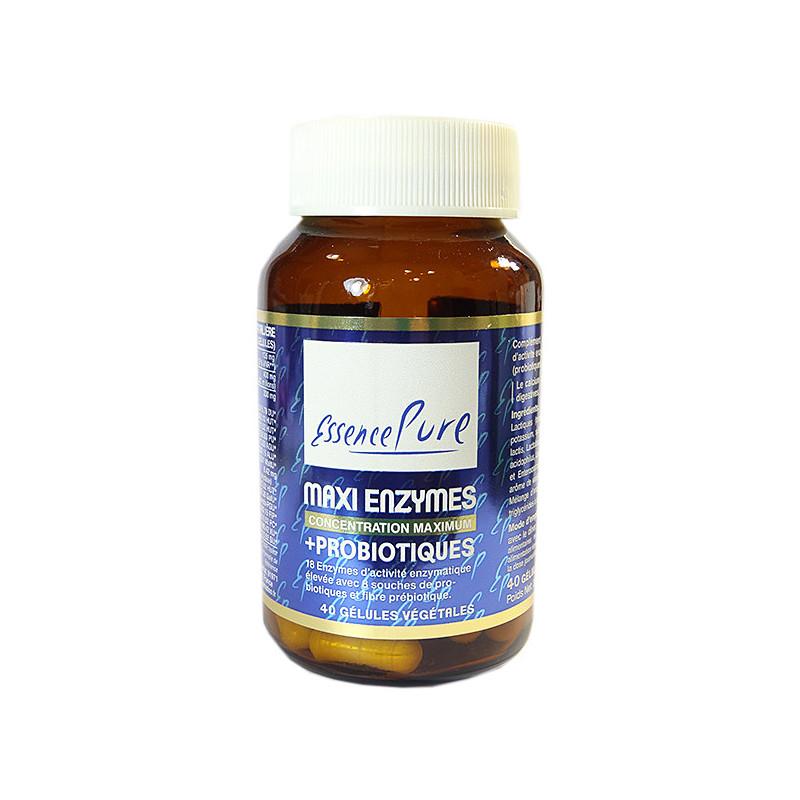 Maxi Enzymes et Probiotiques Essence Pure 40 gélules