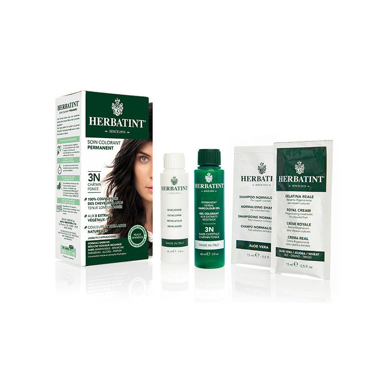 Herbatint 3N Châtain foncé 150ml Kit soin colorant