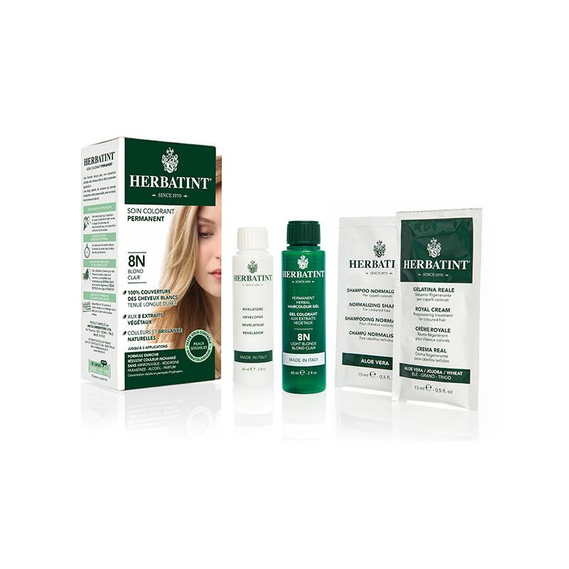 Herbatint 8N Blond Clair 150ml Kit soin colorant