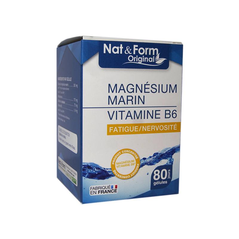 Magnesium Marin + B6 80 Gélules Nat & Form 80 gélules marine