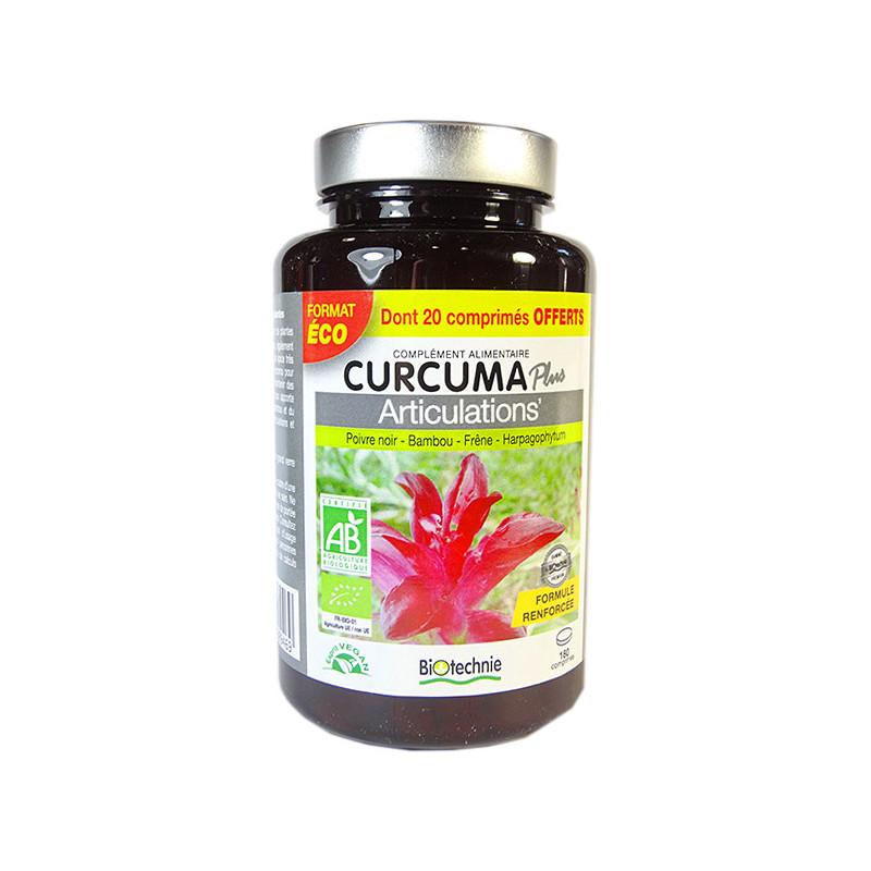 Curcuma Plus Bio Articulations 180 comprimés Biotechnie 180 comprimés