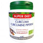 Curcumine et piperine Bio 120 gélules Super Diet 120 gélules d'origine marine bio