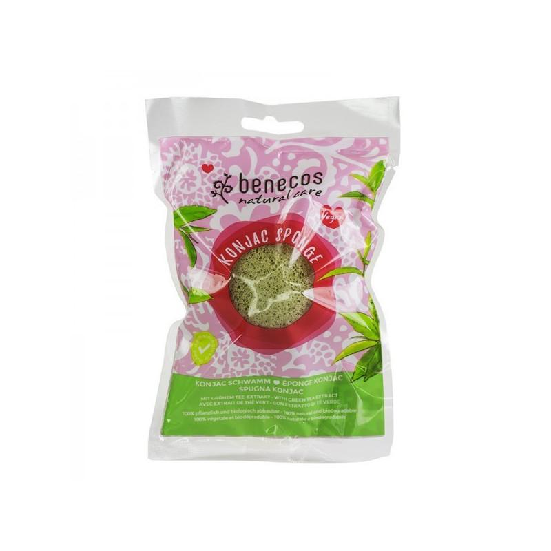 Eponge Konjac bio peau mixte et sèches Benecos