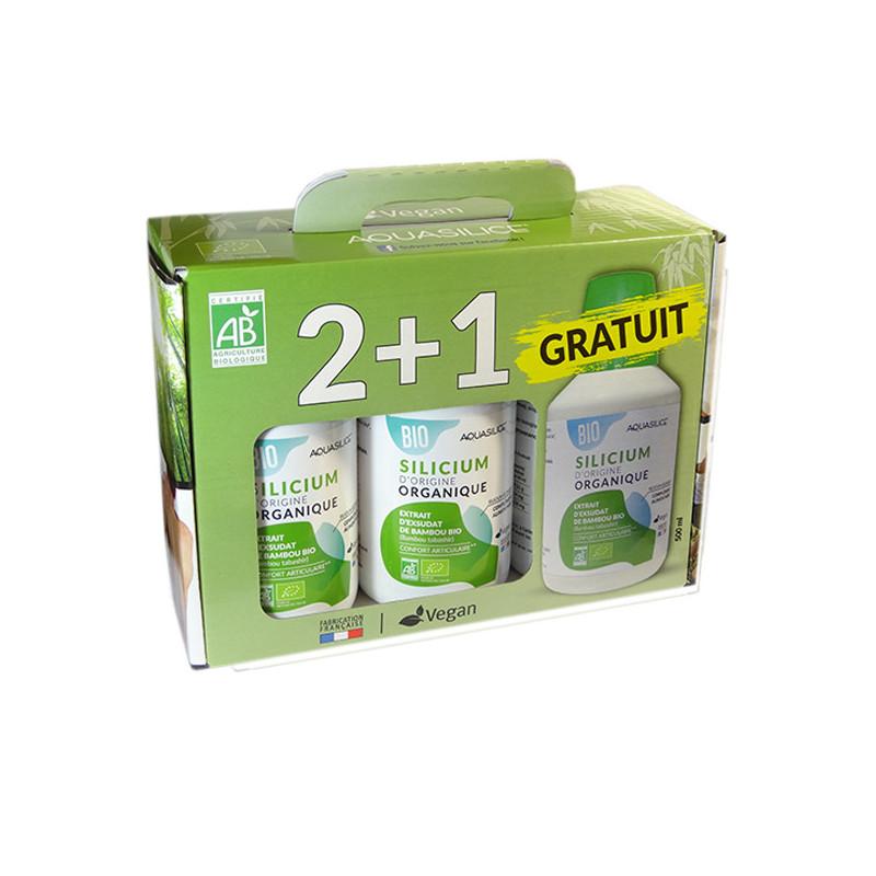 Aquasilice silicium 3 X 500 ml Bio Valisette 3 X 500 ml bio
