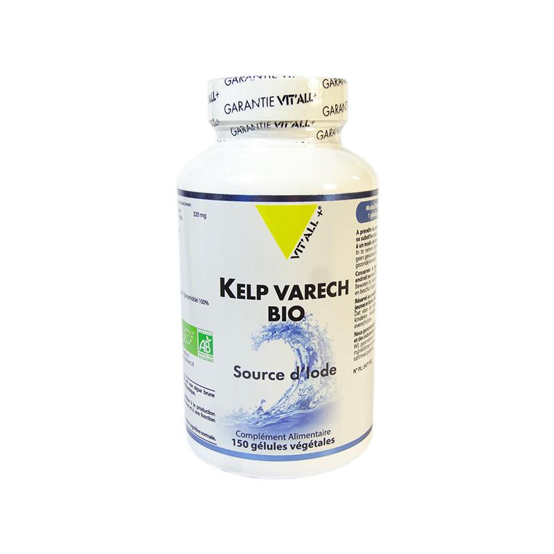 Kelp Varech Bio 150 gélules Vitall+ 150 gélules végétales
