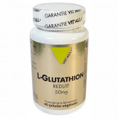L-Glutathion réduit 50mg 60 gélules Vitall+ 60 gélules végétales