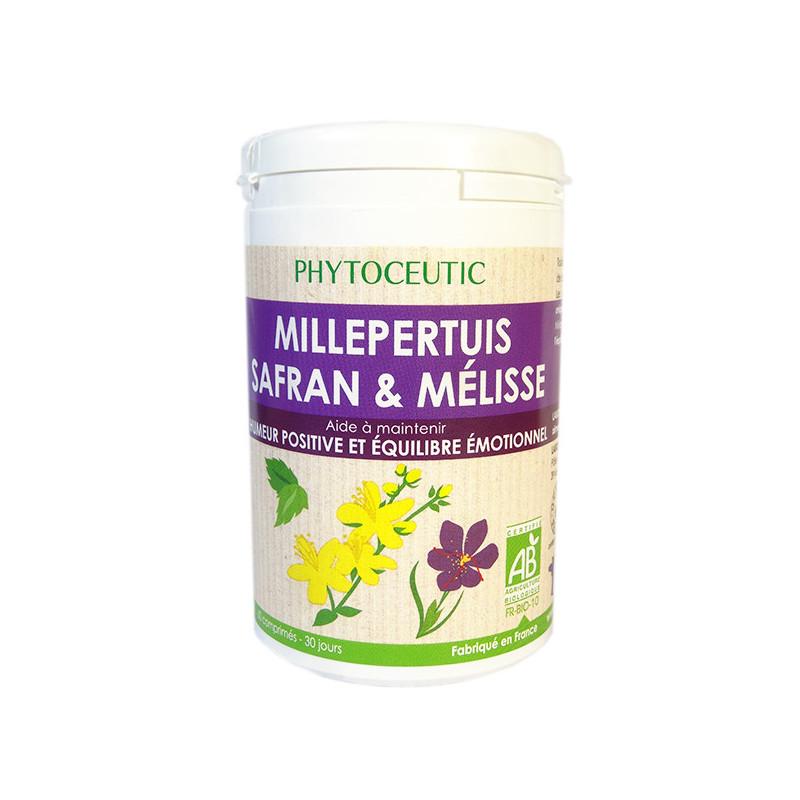 Millepertuis Safran & Mélisse 60 comprimés Phytoceutic 60 comprimés
