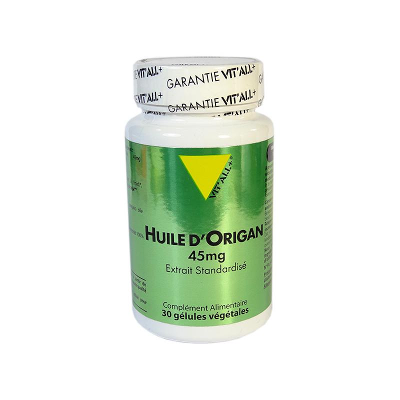 Huile d'Origan 45mg 30 gél Vitall+ 30 gélules végétales