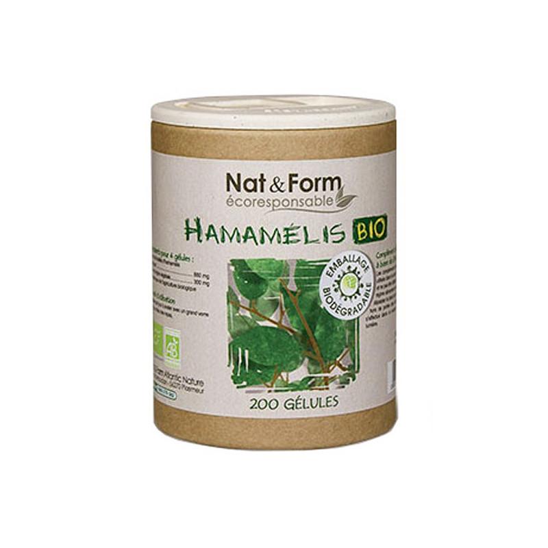 Hamamélis bio 200 gélules Nat & Form 200 gélules végétales