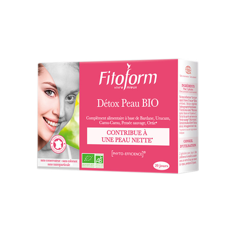 Detox Peau Bio 40 gélules Fitoform 40 gélules