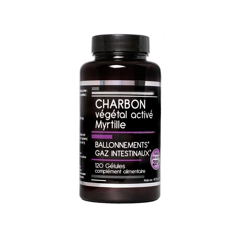 Charbon Végétal Activé Myrtille Nutrivie 120 gélules