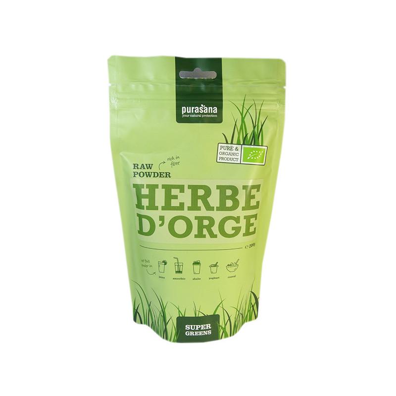 Poudre Herbe d'orge Bio Purasana - 200 gr Sachet 200 gr Poudre
