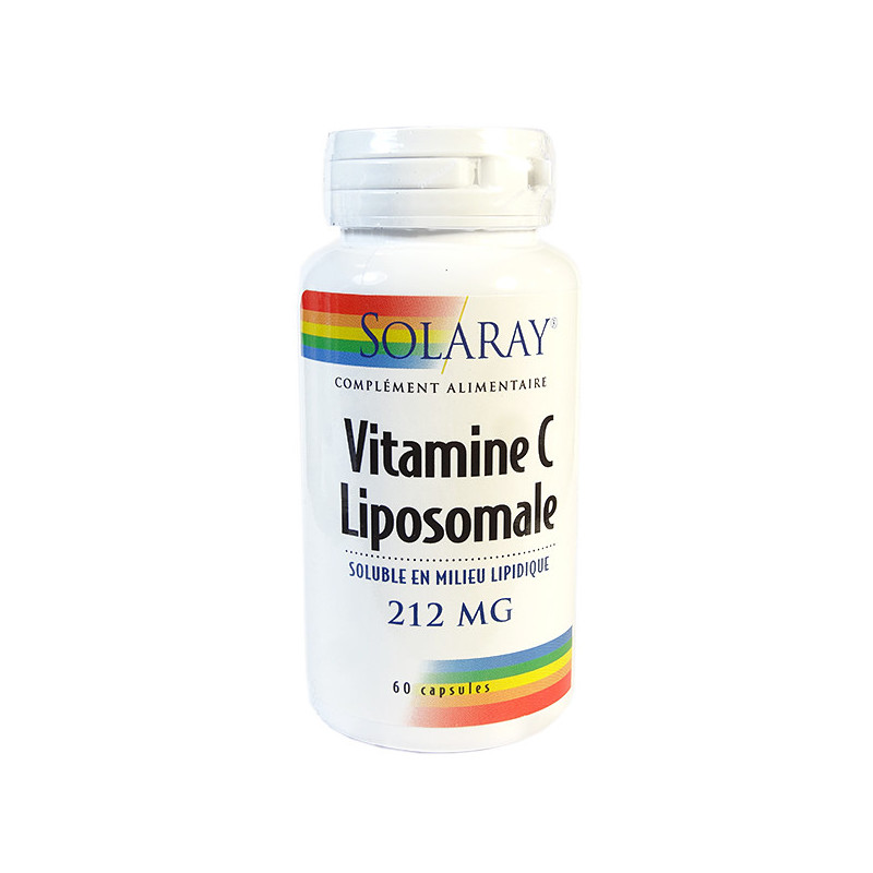 Vitamine C Liposomale 212mg 60 gélules Solaray 60 gélules