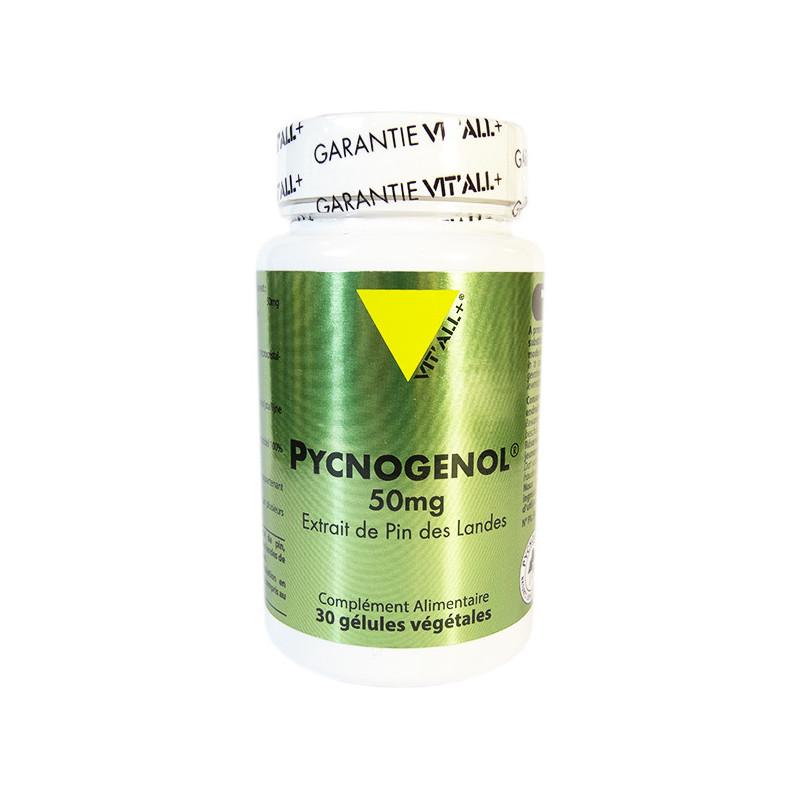 Pycnogénol 50mg 30 gélules Vitall+ 30 gélules végétales