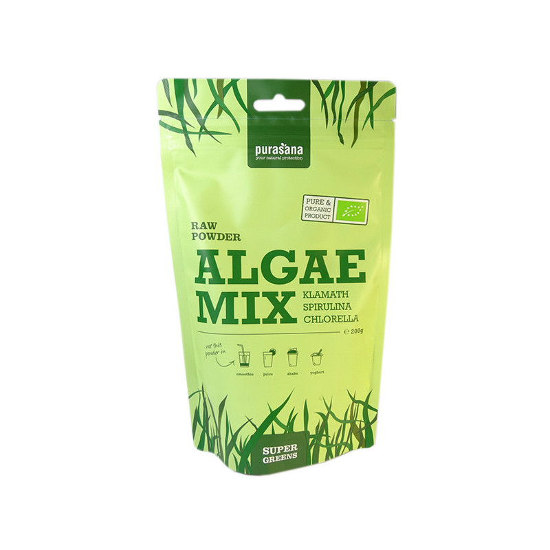 Algae Mix Bio 200gr Purasana Sachet 200 gr refermable