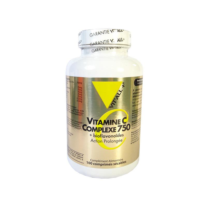 Vitamine C Complexe 750 100cp Vitall+ 100 comprimés