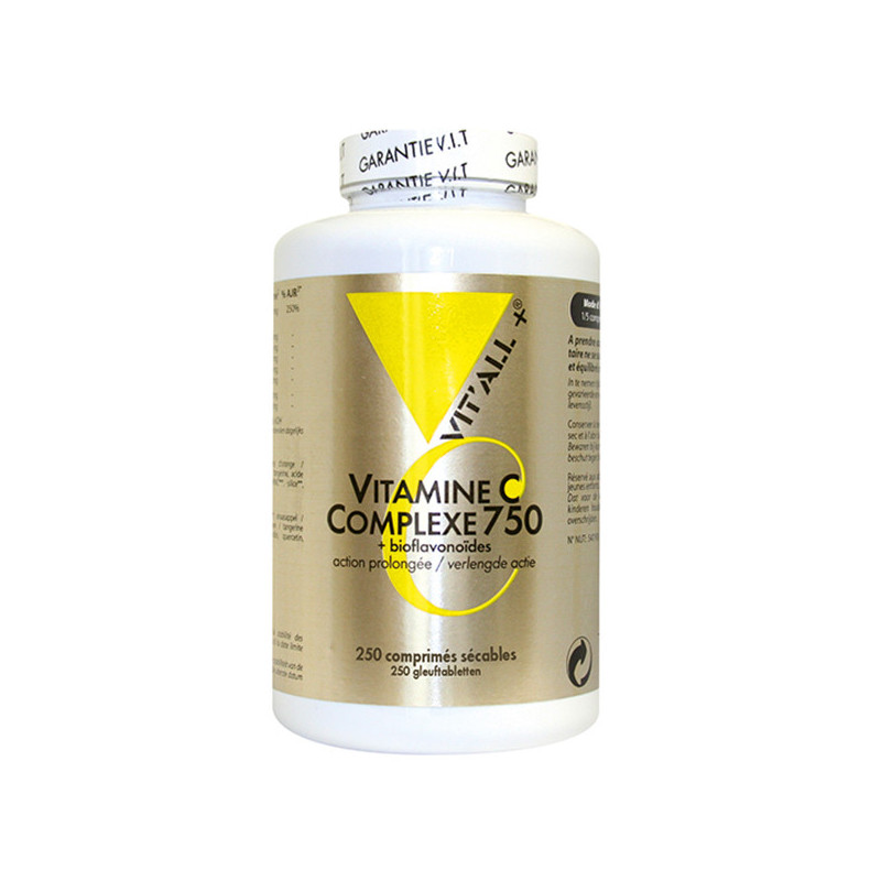 Vitamine C Complexe 750 250cp Vitall+ 250 comprimés