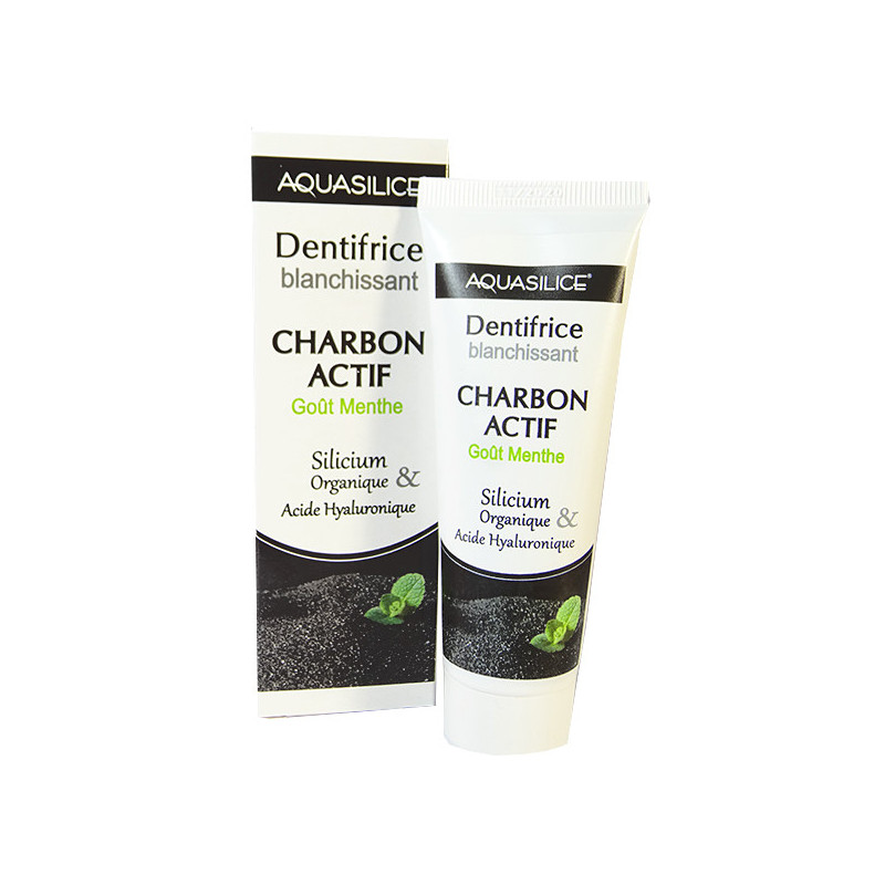 Dentifrice Blanchissant Charbon Actif Aquasilice 50 ml