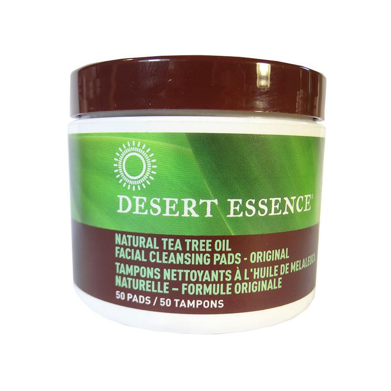 Tampons Nettoyants au Tea tree Desert Essence 50 Tampons 50 tampons