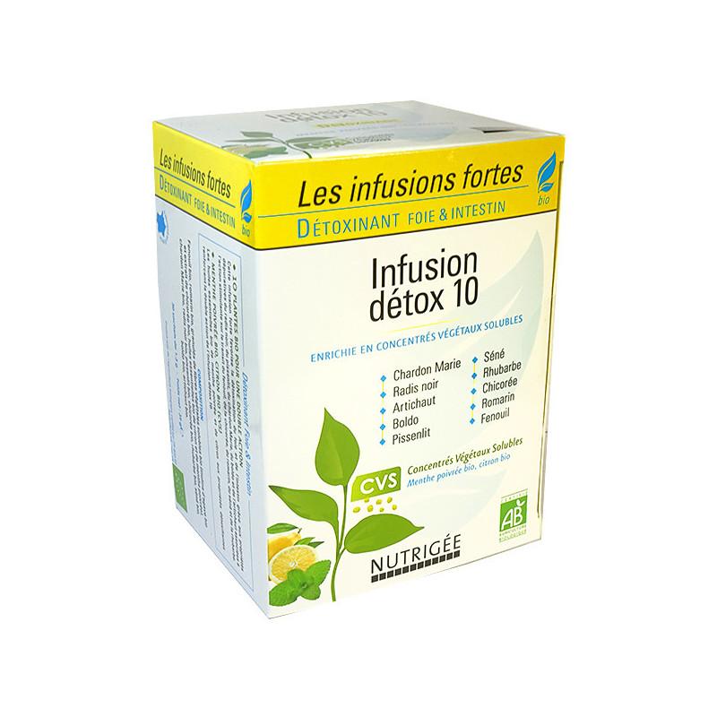 Infusion Detox 10 Bio Nutrigée 30 sachets fraîcheur