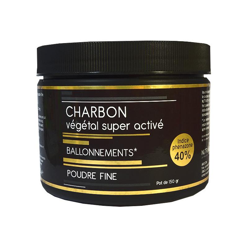 Charbon végétal activé poudre fine 150gr Nutrivie Poudre 150gr