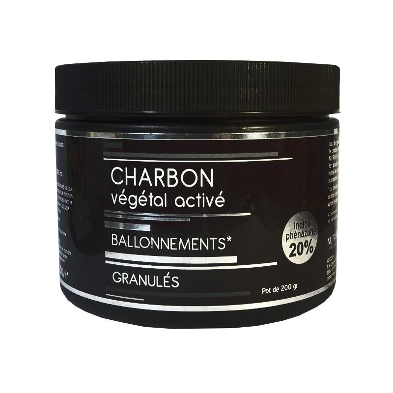 Charbon végétal activé granulés 200gr Nutrivie Granules 200gr