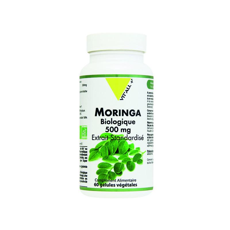 Moringa Bio 500mg 60 gélules Vitall+ 60 gélules végétales