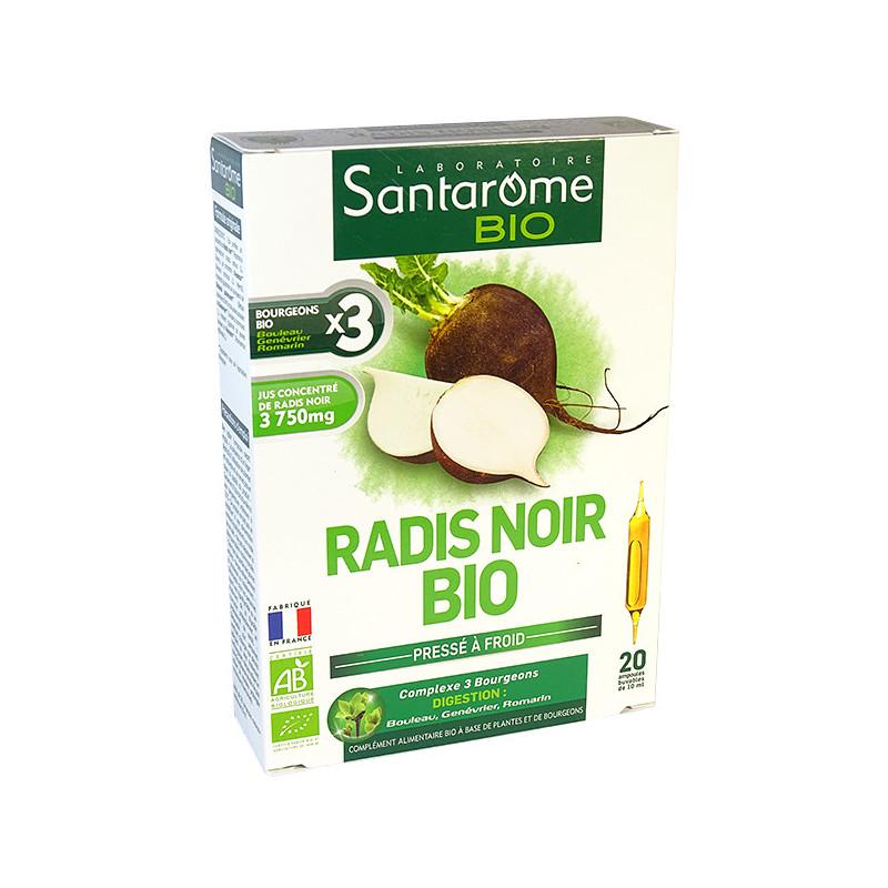 Radis noir Bio 20 ampoules Santarome 20 ampoules de 10ml