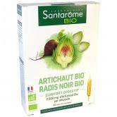 Artichaut Radis noir Bio 20 ampoules Santarome 20 ampoules de 10ml
