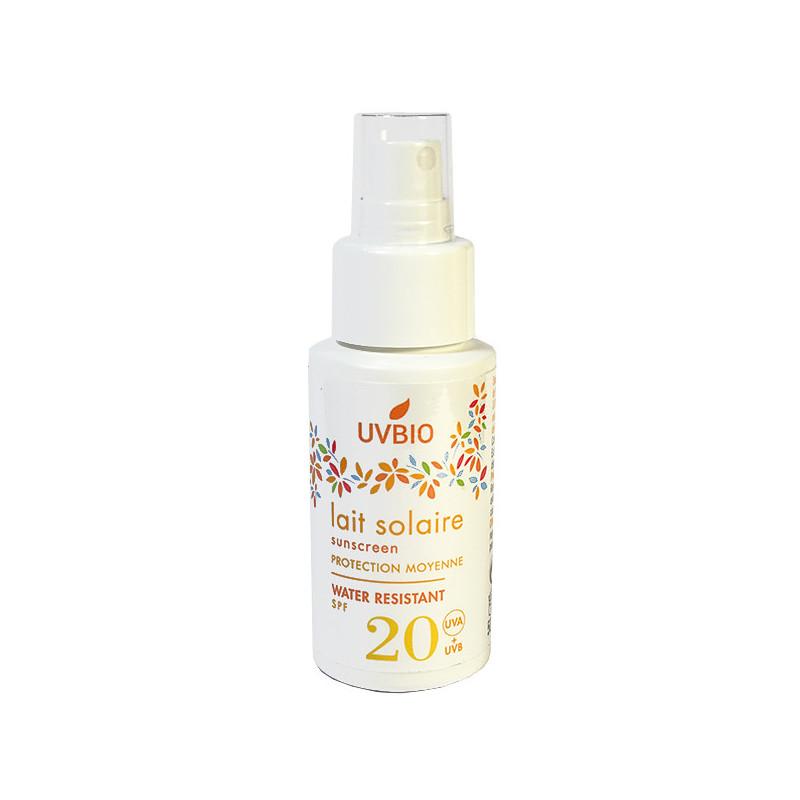 Lait Solaire SPF 20 UVBIO spray 50ml
