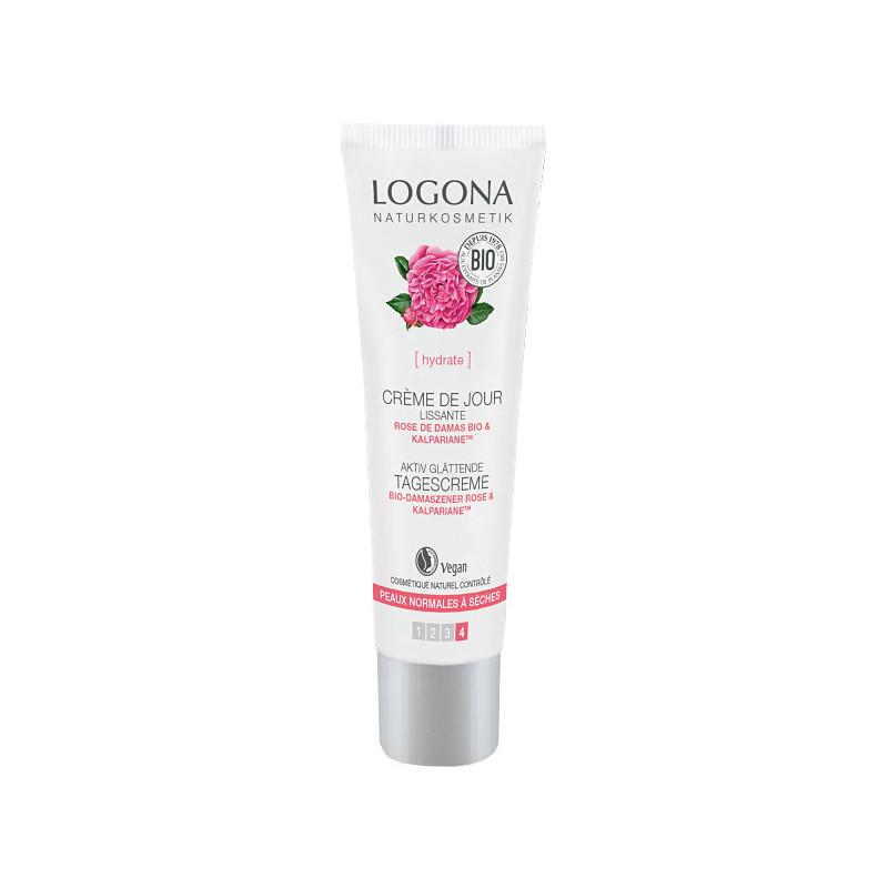 Logona Crème lissante jour Rose de Damas Bio 30ml 30 ml