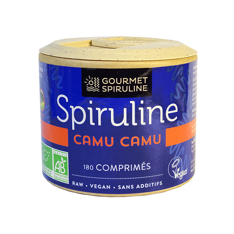 Spiruline_Camu_Camu_180_comprimés_Gourmet_Spiruline