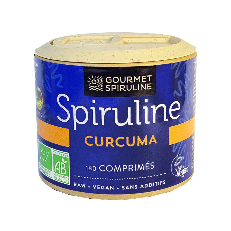 Spiruline_Curcuma_180_comprimés_Gourmet_Spiruline