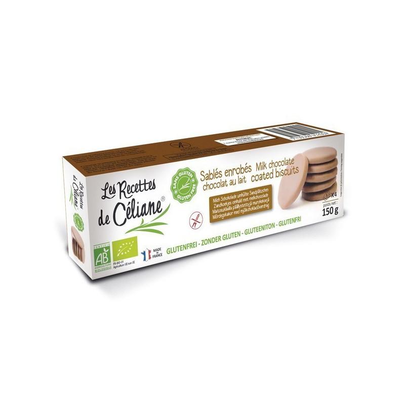 Sablés enrobés Chocolat au Lait 150 gr