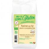Farine Bio de riz Semi-complet 500gr