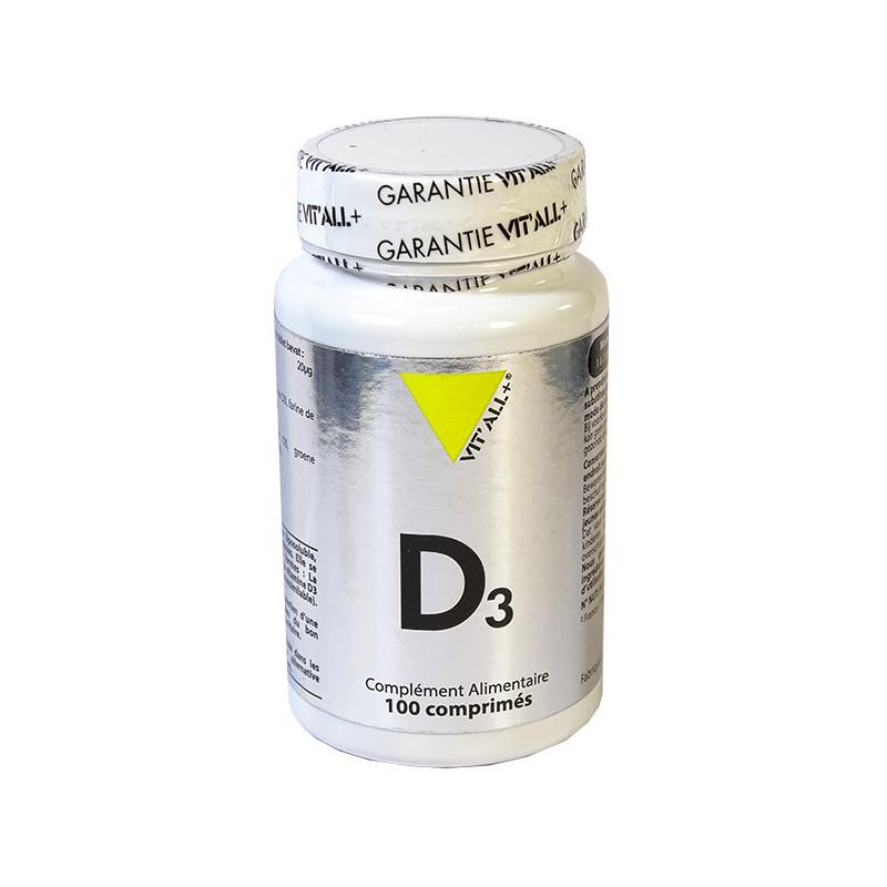 Vitamine_D3_800UI_100_comprimés_Vitall+