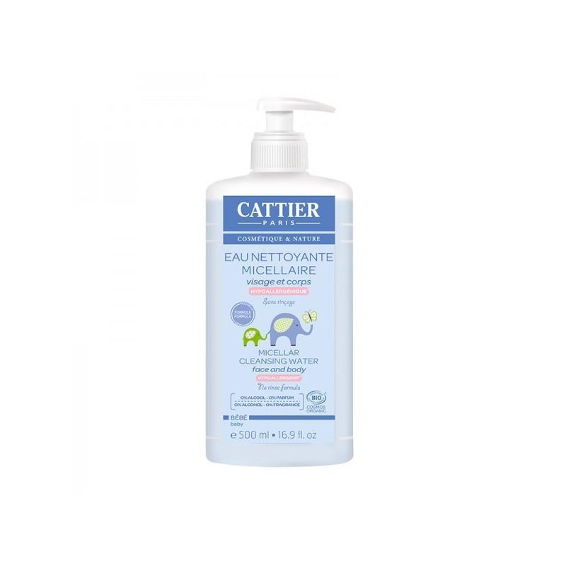 Cattier bébé eau nettoyante micellaire Flacon pompe 500ml