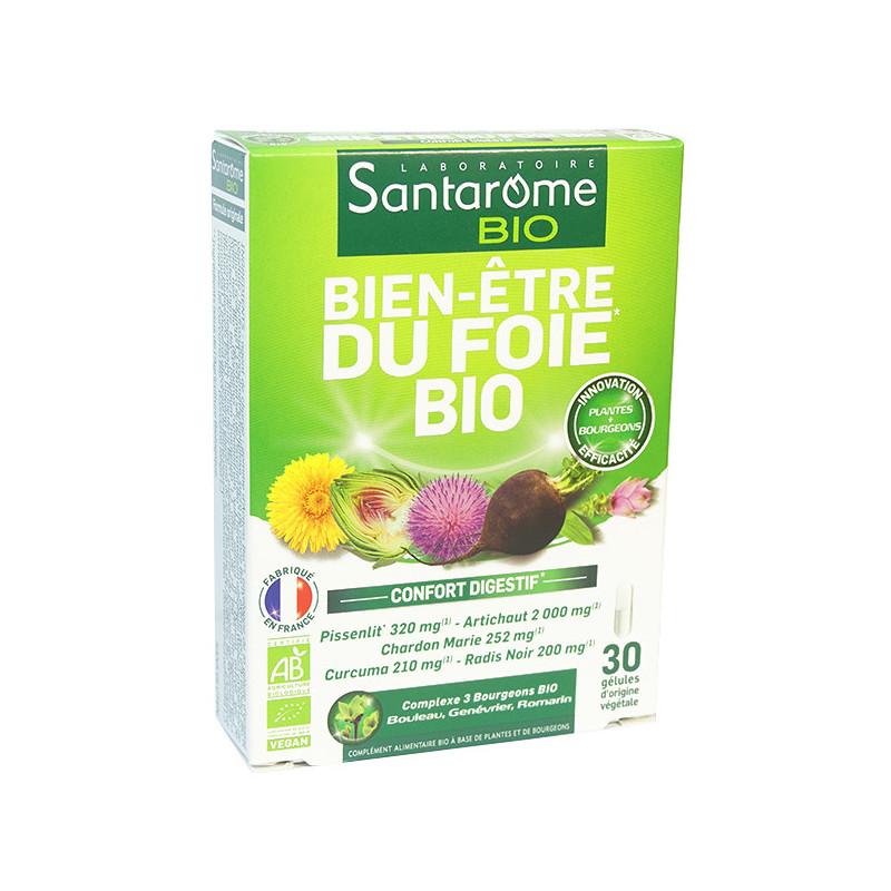 Bien-être_du_foie_bio_30_gélules_santarome