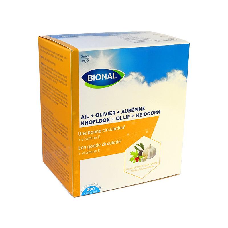 Ail olivier aubépine Bional 200 capsules 200 capsules