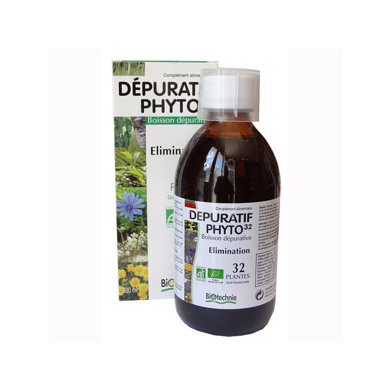 Depuratif Phyto 32 300ml Biotechnie 1 flacon de 300 ml