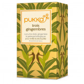 Tisane Pukka 3 gingembres 20 sachets